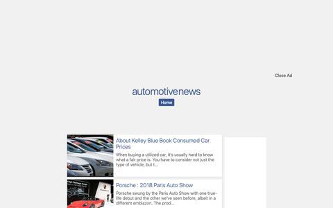 Screenshot of Home Page uwbnext.com - automotive news - captured Nov. 28, 2018