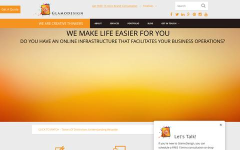 Screenshot of Testimonials Page glamodesign.com.au - GlamoDesign - One Stop Design & Digital Solutions - captured July 21, 2015