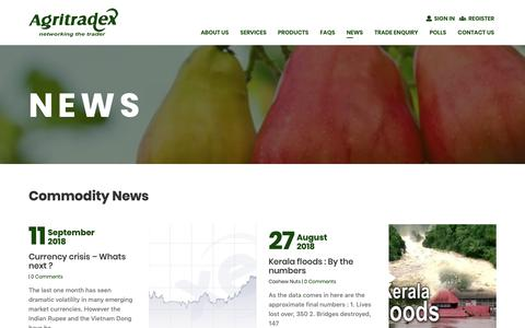 Screenshot of Press Page agritradex.com - News | Agritradex - captured Oct. 3, 2018