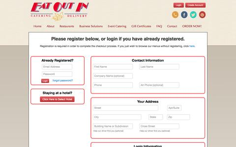 Screenshot of Signup Page eatoutin.com - Registration - captured Oct. 22, 2014