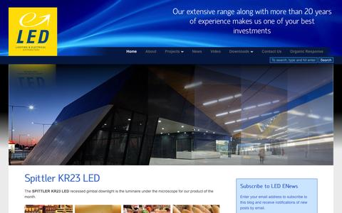 Screenshot of Home Page lighting-electrical.com.au - Australian owned quality lighting products : Lighting & Electrical Distributors - captured Oct. 3, 2014