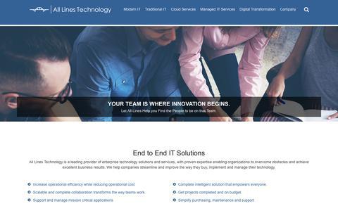 Screenshot of Home Page alllinestech.com - All Lines Technology - captured Oct. 3, 2018