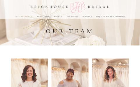 Screenshot of Team Page brickhousebridal.com - Experienced Bridal Consultants- The Woodlands TX — Brickhouse Bridal Wedding Dresses Houston TX The Woodlands TX I Bridesmaids - captured Nov. 6, 2018