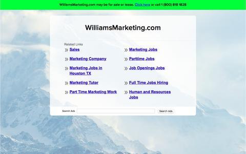 Screenshot of Home Page williamsmarketing.com - WilliamsMarketing.com - captured June 18, 2017