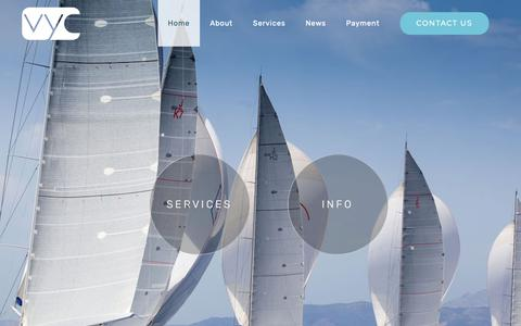 Screenshot of Home Page vickersyachtconsultancy.com - Vickers Yacht Consultancy | Superyacht Services - captured Oct. 19, 2018