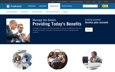 Employer benefit options | Prudential Financial