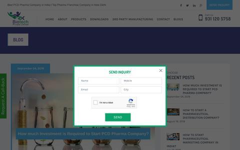 Screenshot of Blog rxbiotech.in - Blogs - Rx Biotech - captured Sept. 25, 2018