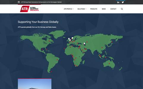 Screenshot of Case Studies Page atrgroup.co.uk - ATR — Global Equipment Specialists | Case Studies - captured Sept. 30, 2014
