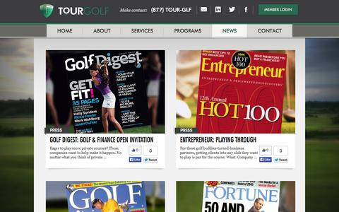 Screenshot of Press Page tourgcx.com - Tour Golf | News - captured Oct. 7, 2014