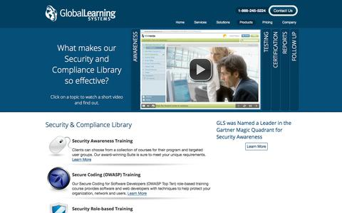 Screenshot of Products Page globallearningsystems.com - Products - Global Learning Systems - captured July 19, 2018