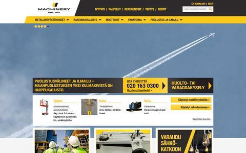 Screenshot of Home Page machinery.fi - Machinery | Machinery kasvattaa suomalaisen teollisuuden kilpailukykyä ja kannattavuutta - captured Feb. 2, 2016