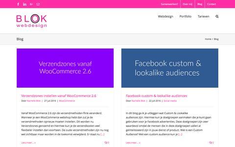 Screenshot of Blog blokwebdesign.nl - Blog - Blok Webdesign - captured July 29, 2016