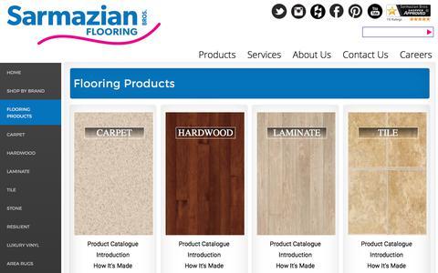 Screenshot of Products Page sarmazian.com - Flooring Products | Sarmazian Brothers Flooring - captured Oct. 24, 2017