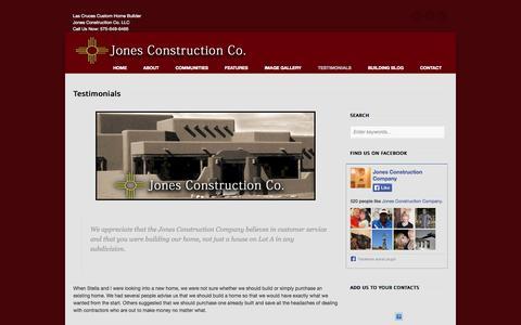 Screenshot of Testimonials Page buildlascruces.com - Testimonials - BuildLasCruces.com - captured Oct. 6, 2014