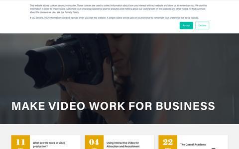 Screenshot of Blog casualfilms.com - Casual Films - Make Video Work for Business - captured Dec. 14, 2018