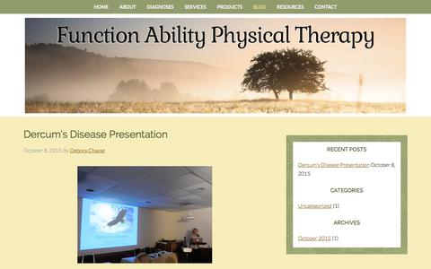 Screenshot of Blog functionabilitypt.com - Blog - Function Ability Physical Therapy - captured Oct. 14, 2017