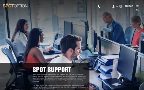 Screenshot of Support Page spotoption.com - Spot Support - SpotOption - captured June 15, 2017