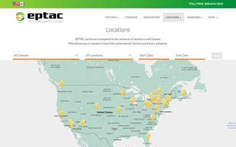 Screenshot of Locations Page eptac.com - Locations | EPTAC - captured Nov. 28, 2017