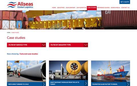 Screenshot of Case Studies Page allseasglobal.com - Case Studies - Allseas Global - captured Feb. 5, 2016