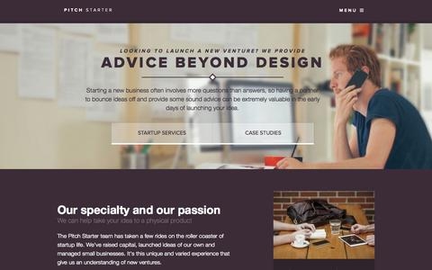 Screenshot of Case Studies Page pitchstarter.com.au - Looking to launch a new venture? We provide Advice beyond design - captured Sept. 30, 2014