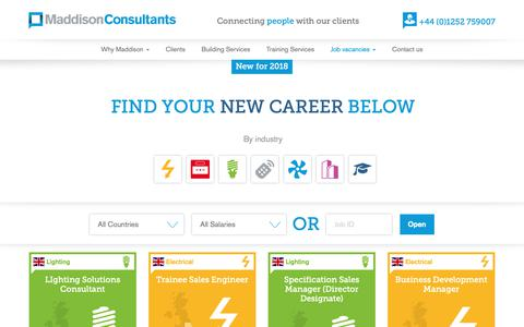Screenshot of Team Page maddisonconsultants.co.uk - Job vacancies | Maddison Consultants - captured Nov. 11, 2018