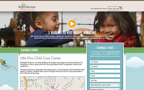 Screenshot of Landing Page brighthorizons.com - Bright Horizons® | Child Care, Back-Up Care, Early Education, and Work/Life Solutions - captured May 3, 2016