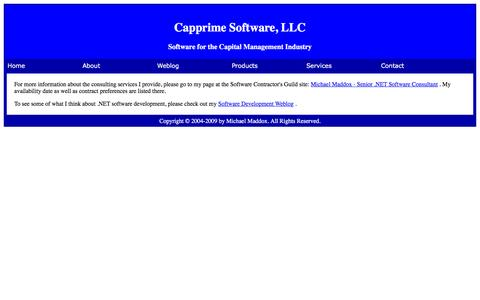 Screenshot of Services Page capprime.com - Capprime Software, LLC - Software for the Capital Management Industry - captured May 14, 2016