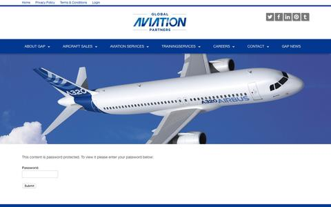 Screenshot of Login Page globalaviationpartners.com - GAPmemberspage - Global Aviation PartnersGlobal Aviation Partners - captured July 22, 2015