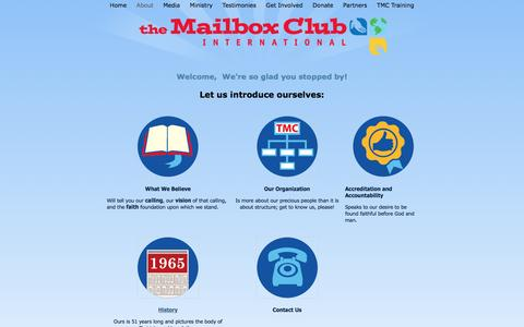 Screenshot of About Page mailboxclub.org - About Mailbox Club - captured Dec. 17, 2016