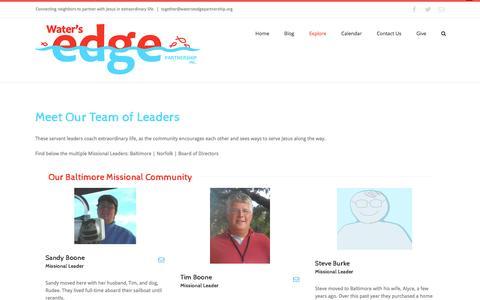 Screenshot of Team Page watersedgepartnership.org - Our Team – Water's Edge Partnership - captured Jan. 12, 2016
