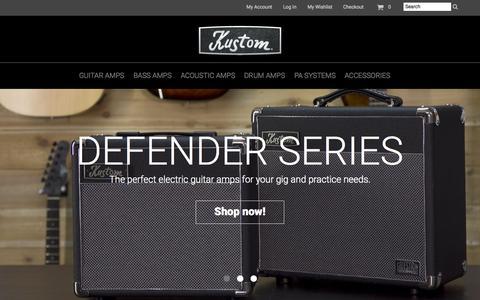 Screenshot of Home Page kustom.com - Home page - captured Sept. 22, 2015