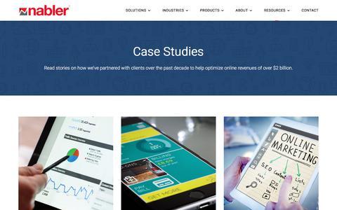 Screenshot of Case Studies Page nabler.com - Latest Digital Analytics Resources and Insights by Nabler - Case Studies - captured Dec. 13, 2019