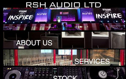Screenshot of Home Page rshaudio.co.uk - RSH Audio Ltd - captured Feb. 15, 2016