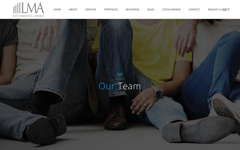 Screenshot of Team Page levymarketingawards.com - Our Team | Levy Marketing + Awards - captured July 18, 2018