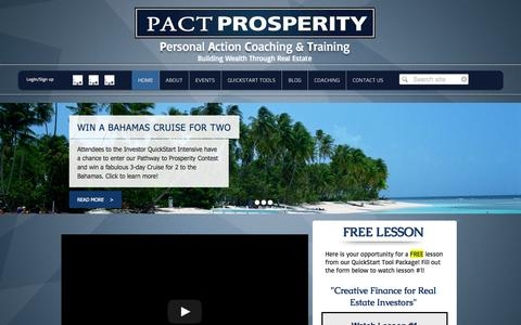 Screenshot of Testimonials Page pactprosperity.com - PACT Prosperity - captured Sept. 26, 2014