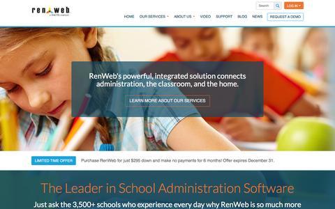 Screenshot of Home Page renweb.com - Home - RenWeb - captured Jan. 11, 2016