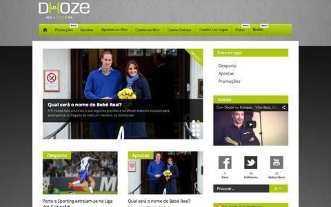 Screenshot of Blog dhoze.com - Blog Dhoze.com - A tática é sua. - captured Sept. 19, 2014