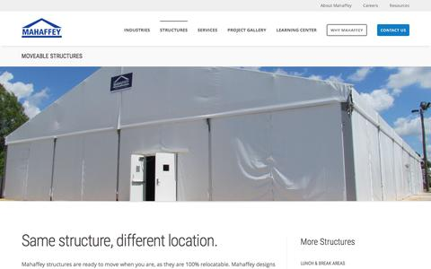 Screenshot of mahaffeyusa.com - Moveable Structures - captured March 20, 2016