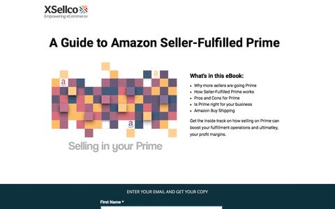 Screenshot of Landing Page xsellco.com - A Guide to Amazon Seller-Fulfilled Prime and Buy Shipping - captured Dec. 18, 2016