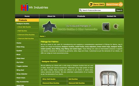Screenshot of Products Page hhindustries.org - Products, Designer Buckles Manufacturer from Mumbai - captured May 12, 2017