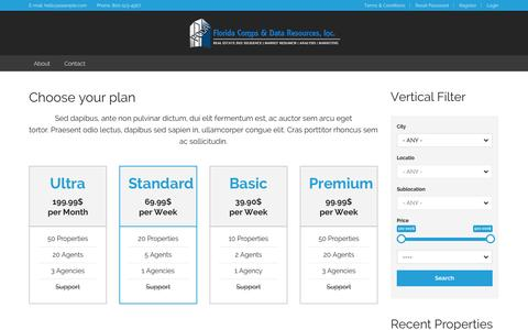 Screenshot of Pricing Page floridacomps.com - Choose your plan | FDCR - captured Oct. 6, 2014