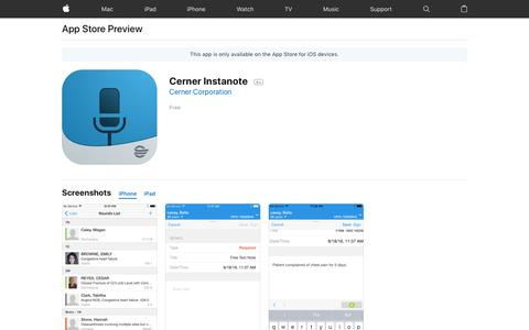 Cerner Instanote on the App Store