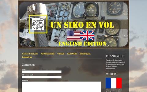 Screenshot of Contact Page unsikoenvol.fr - Contact us - Site de unsikoenvol ! - captured Oct. 9, 2014