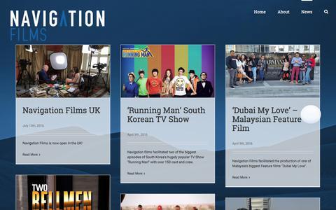 Screenshot of Press Page navigationfilms.com - News – Navigation Films - captured Oct. 19, 2017
