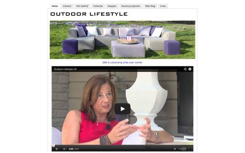 Screenshot of Home Page outdoorlifestyle.nl - De specialist voor exclusieve loungemeubelen in Zuid Holland  - Al 10 jaar een begrip voor het inrichten van Uw terras - captured Oct. 7, 2014