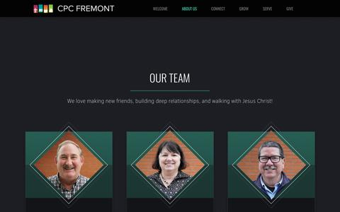 Screenshot of Team Page cpcfremont.org - CPC Fremont | Our Team - captured Nov. 10, 2018