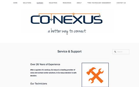 Screenshot of Support Page co-nexus.com - Co-nexus Support Team and Experience — Co-nexus - captured July 19, 2018
