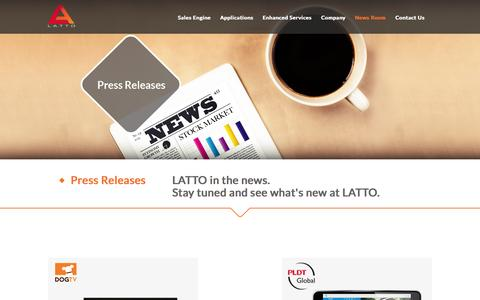 Screenshot of Press Page latto.tv - LATTO TV - captured July 3, 2015