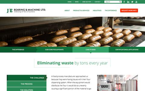 Screenshot of Case Studies Page je-bearing.com - Case Studies   J/E Bearing and Machine - captured Nov. 2, 2014