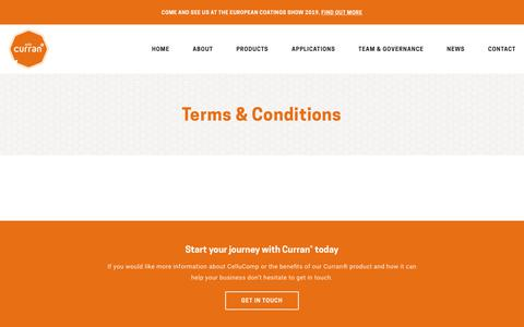 Screenshot of Terms Page cellucomp.com - Terms & Conditions | CelluComp - captured July 12, 2018